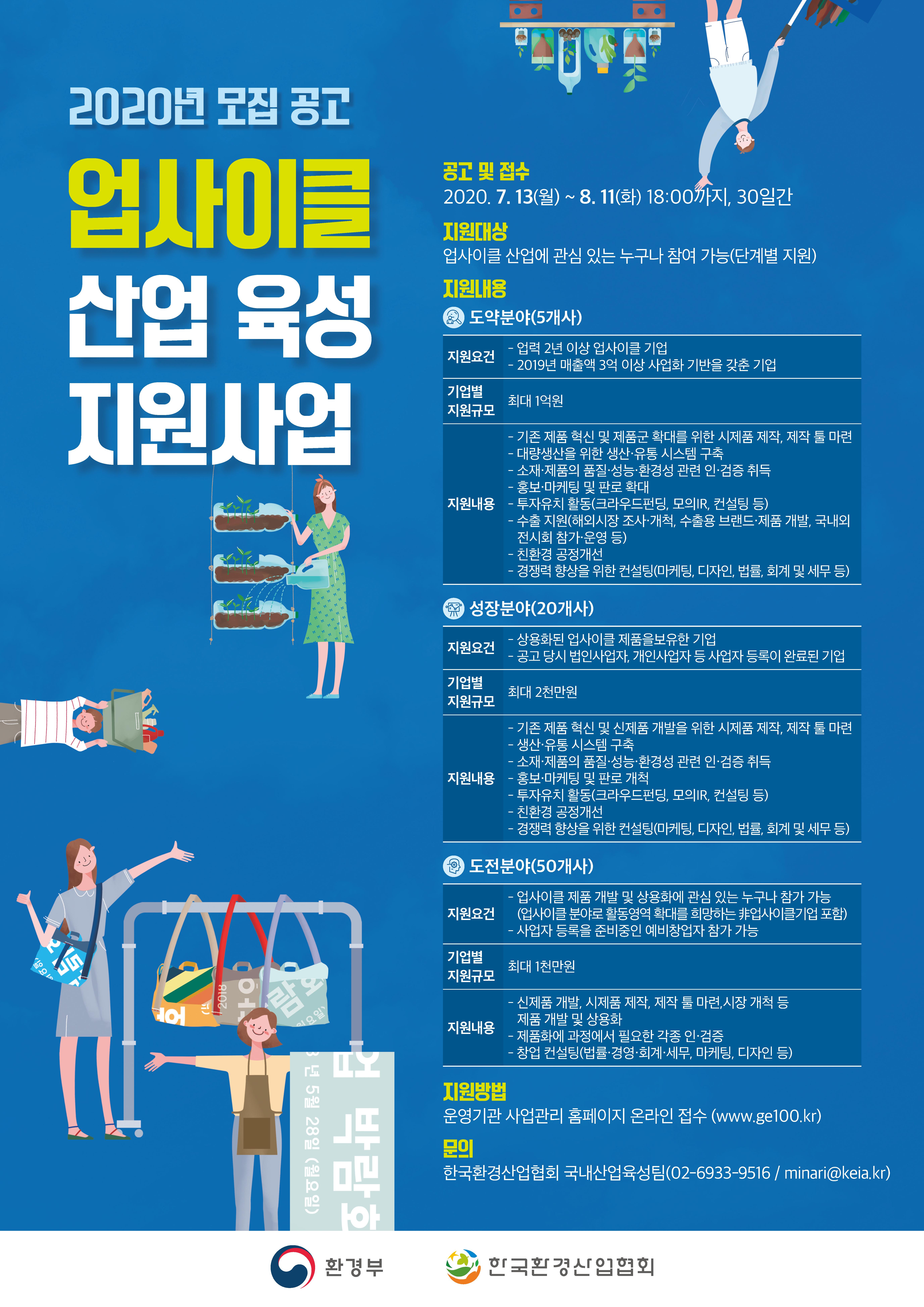 2020년 업사이클 산업 육성 지원사업 참가기업 모집안내 포스터.png